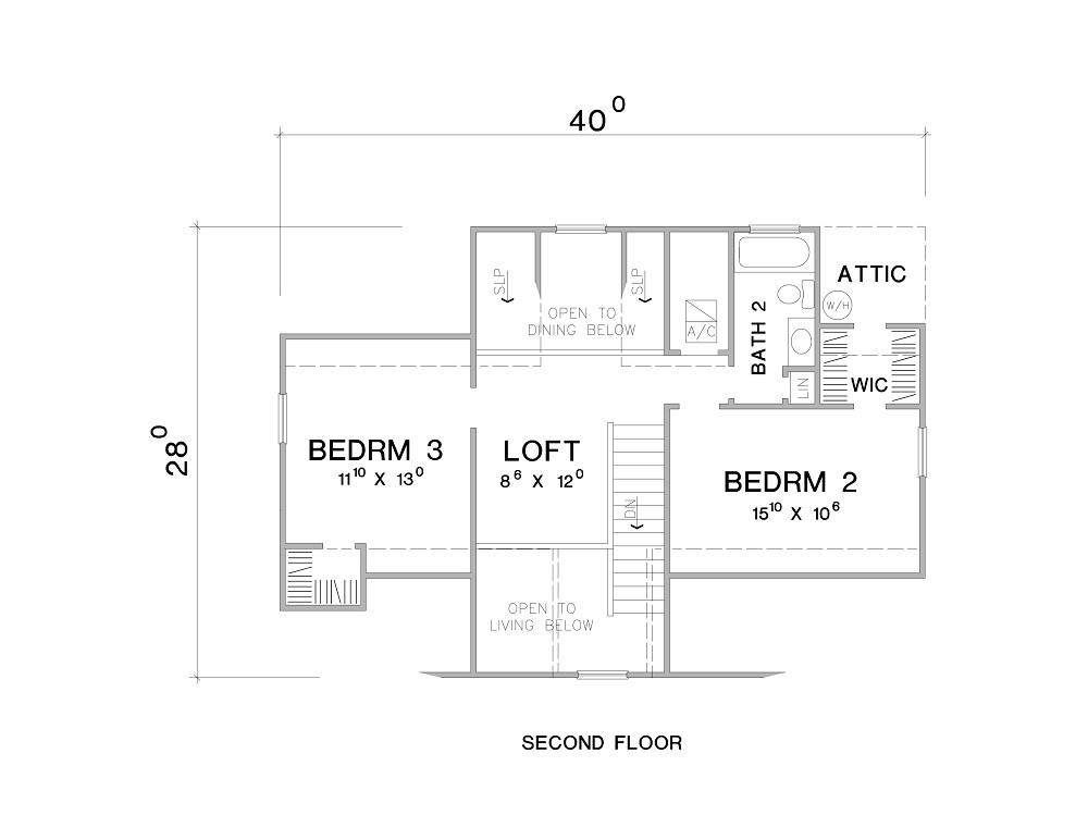 2nd Floor Plan image of The Maybelle House Plan